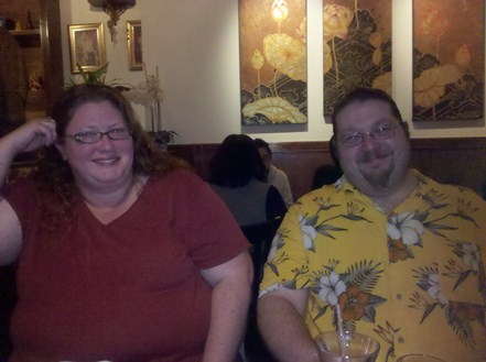 Apollomy/@Rachel1975 and Head_Lance/@janitorbob at the start of the Meet-up